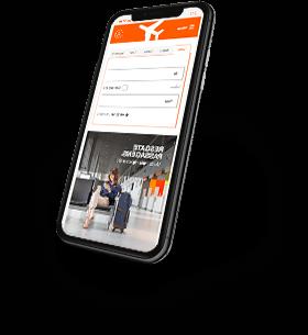 Smartphone acessando o aplicativo da Smiles