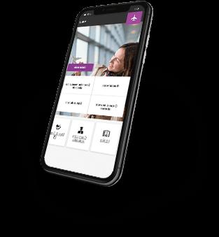 Smartphone acessando o site da Smiles
