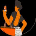 Imagem representa uma pessoa segurando um celular