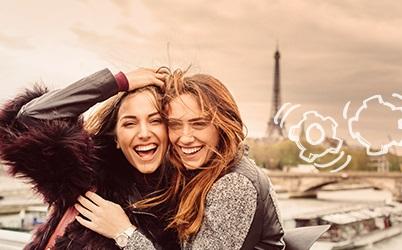 imagem mulheres sorrindo