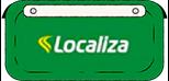 ilustração placa de carro verde com logo Localiza Hertz